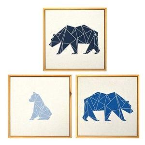 NWT Cloud Island Framed Wall Canvas Bears